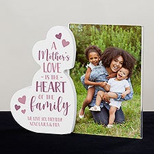 Heart Of The Family Personalized Wooden Hearts Photo Frame - 31524