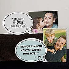 Things Dad Says Personalized Speech Bubble Photo Frame - 31529
