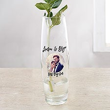 Photo Message for Wedding Personalized Printed Bud Vase - 31579