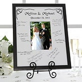 Personalized Wedding and Anniversary Signature Mat Picture Frames - 3160