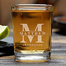 Lavish Groomsmen Wedding Personalized Shot Glass - 31621