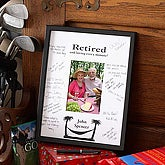 Personalized Retirement Signature Mat Frame Customer Reviews