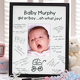 Personalized Baby Love Signature Mat Frame - 3165