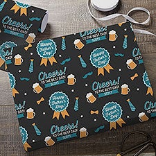 Cheers to Dad Personalized Father's Day Wrapping Paper - 31787