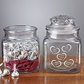 Hearts Candy Jar