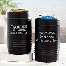 Any Message Stainless Insulated Beer Can Holder - 31883