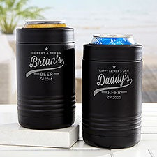 Father's Day Personalized Stainless Insulated Beer Can Holder - 31884