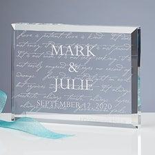 Personalized Love Is Patient Glass Keepsake Sculpture - 3193