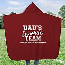 Dad's Favorite Team Personalized Hooded Sherpa Blanket - 32036