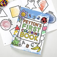 My First Coloring Book Personalized Coloring Activity Book & Crayon Set - 32100