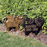 Personalized Rest In Peace Cat Memorial Markers