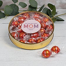 You Are One Sweet Mom Personalized Lindt Chocolate Gift Tins - 32191D