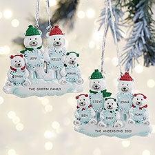 Polar Bear Family Personalized Christmas Ornaments - 32276