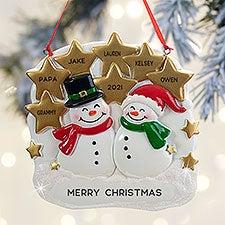 Snowman Couple Personalized Ornament - 32281