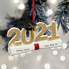 2021 Graduation Personalized Ornament - 32284