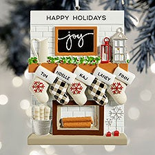 Fireplace Stockings Personalized Family Ornaments - 32293