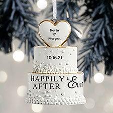 Wedding Cake Personalized Ornament - 32299