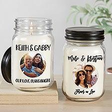 Romantic Photo Message Personalized Farmhouse Candle Jar - 32330