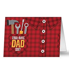 Tool-Rific Dad Personalized Father's Day Greeting Cards - 32343