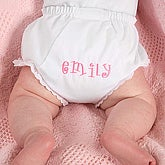 Embroidered Baby Diaper Cover  - 3239