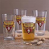 Personalized Pub Glasses and Pitcher Set - Cheers Tavern - 3254D