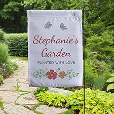 Precious Moments® Floral Personalized Garden Flag - 32590