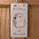 Dog Breed Personalized Slate Welcome Sign - 3262