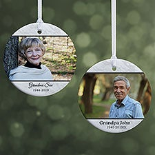 Double Photo Memorial Personalized Photo Ornaments - 32701