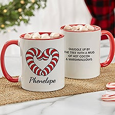 Precious Moments® Candy Cane Initials Personalized Coffee Mug - 32879