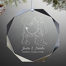 Precious Moments® Wedding Premium Engraved Ornament - 32883
