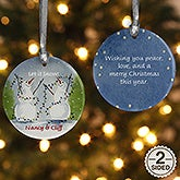 Personalized Snow Couple Porcelain Christmas Ornament - 3333