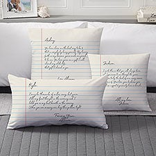 Love Letter Personalized Throw Pillows - 33365