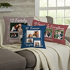 For Her Photo Collage Personalized Throw Pillow - 33385