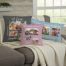 Photo Collage For Grandparents Personalized Throw Pillow - 33387