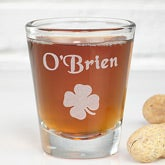 Personalized Shot Glasses - Irish Shamrock Design - 3353