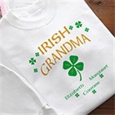 Four Leaf Clover Personalized Irish Pride Apparel - 3357