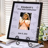 Personalized First Communion Signature Mat Frame - 3364