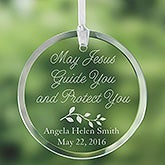 Personalized Glass Suncatcher - May Jesus Guide You - 3366