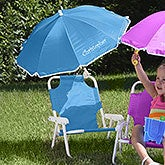 Personalized Kids Beach Chair & Umbrella Set - Blue - 3385-B