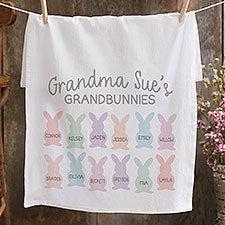 Grandbunnies Personalized Easter Flour Sack Towel - 34099