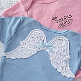 Personalized Baby T-shirt with Angel Wings - 3418