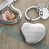 Personalized Photo Locket Key Ring - Mom's Heart Design - 3419