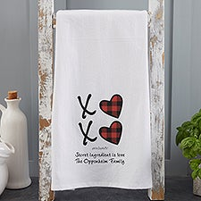 XoXo Buffalo Check by philoSophie's Personalized Tea Towel - 34213