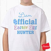 Personalized Kids Easter Clothes For Boys - Easter Egg Hunter - 3445