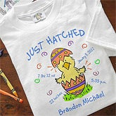 Personalized First Easter Chick Baby Clothes- Just Hatched Design - 3447