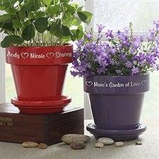 Personalized Purple Ceramic Flower Pot - 3486