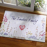 Personalized Welcome Mats - Home Sweet Home Family Name Design - 3487