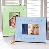 Personalized Picture Frame for Babies - Watercolor Art Stars Design - 3496
