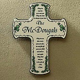 Traditional Irish Blessing Personalized Wall Cross - 3582