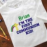 Personalized First Communion Boy Shirts - 3595
